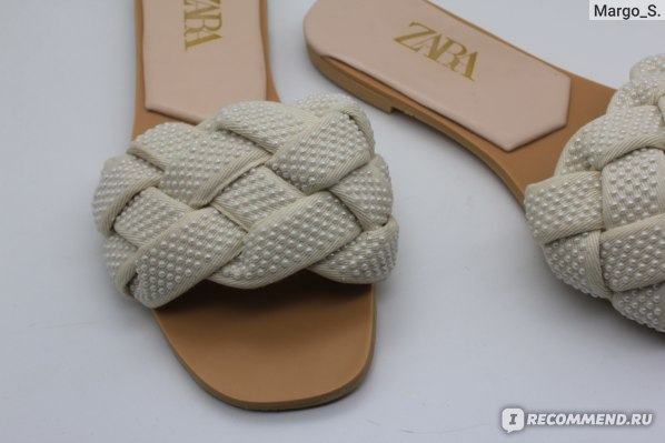 Босоножки Aliexpress 2021 Summer White Faux Pearl Braided Flat Sandals Female Casual Slippers фото
