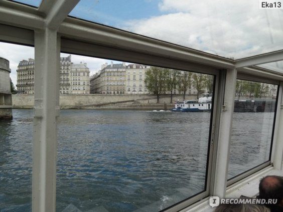 Париж. Путешествие по Сене- вид на город с борта корабля фото