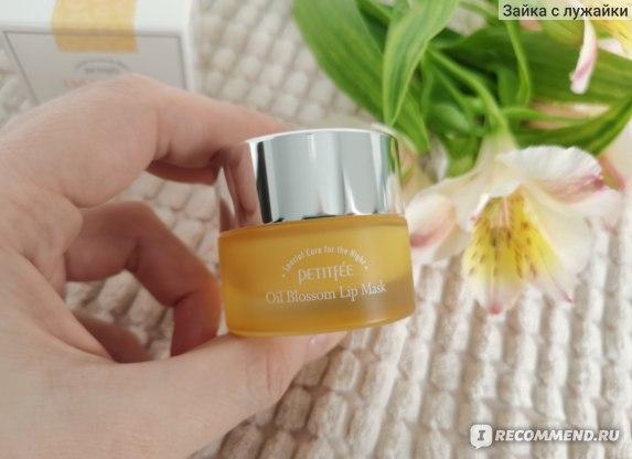Ночная маска для губ c маслом облепихи Petitfee Oil Blossom Lip Mask Sea Buckthorn Oil фото