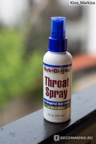 Спрей для горла NutriBiotic First Aid Throat Spray фото