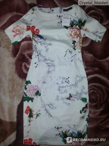 Платье AliExpress European Retro Women s Colorful Flowers Printed Dresses Cotton Blend Slim Short Sleeve Zara фото