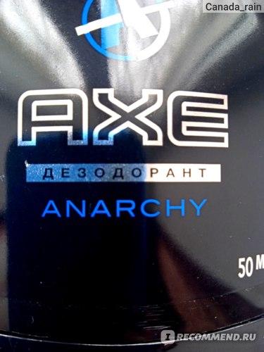 Дезодорант-антиперспирант Axe Анархия (для мужчин) фото