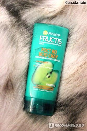 """Бальзам для ослабленных волос Garnier Fructis Укрепляющий """"Рост во всю силу"""" фото"""