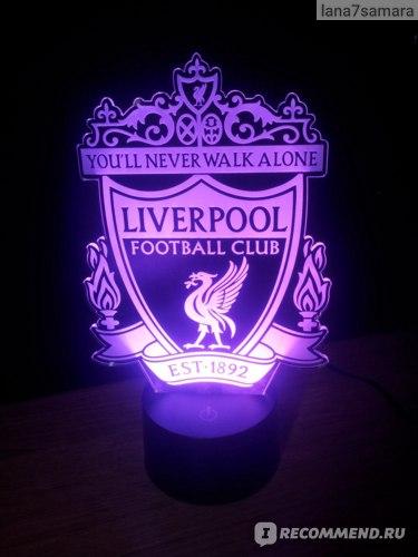3D Ночник Art-lamps Ливерпуль
