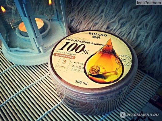 Гель для лица и тела BIHADO Увлажняющий с золотом (24К) и муцином улитки (100%)
