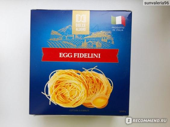 Макаронные изделия Dolce Albero Egg Fidellini (гнезда яичные спагетти) фото
