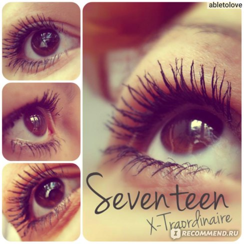 Тушь для ресниц Seventeen X-Traordinaire фото