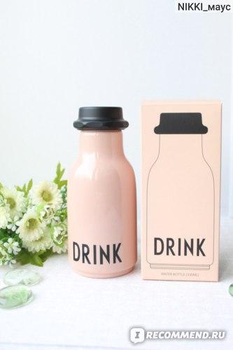 Бутылка для воды Design Letters Drink Water Bottle Pink