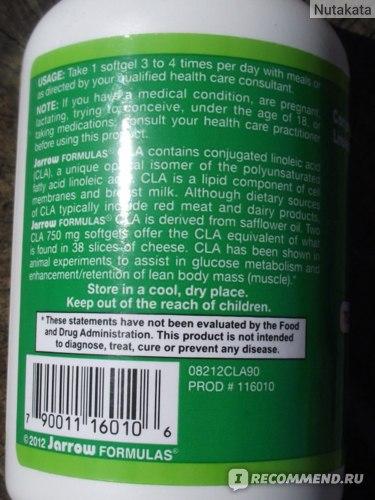 БАД Jarrow Formulas CLA, Conjugated Linoleic Acid фото