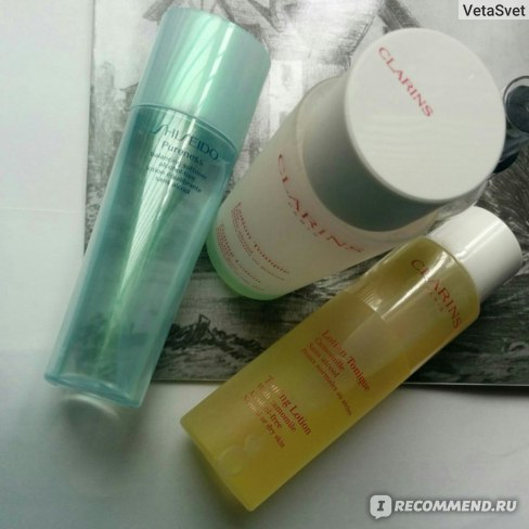 Лосьон для лица Clarins Purifing Lotion tonique with Iris Sans Alcohol фото