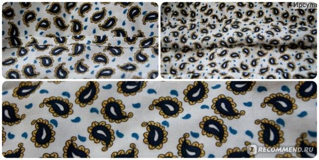 Блузка Oodji 21412132 2/24681/1252E Цвет: темно-синий горчичный   фото