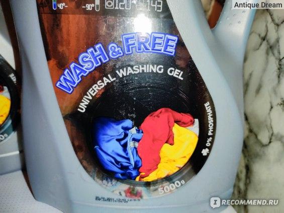 Гель для стирки Wash&Free Универсальный  фото
