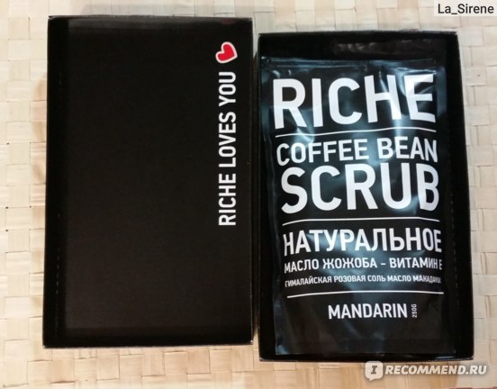Скраб для тела RICHE Coffee Bean Scrub Mandarin фото