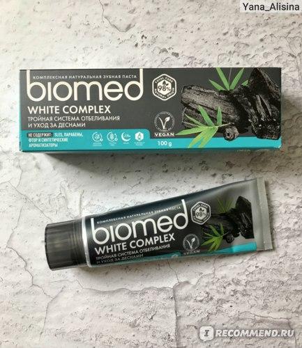 зубная паста Biomed white complex