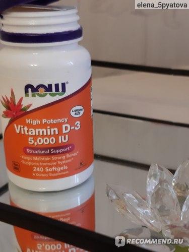 Витамины Now Foods Д-3 фото