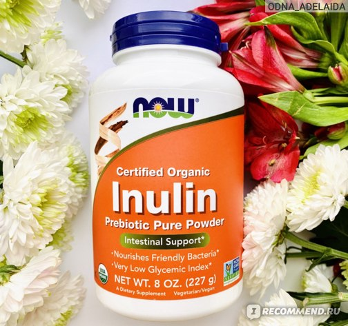 Пребиотик Now Foods Inulin, Prebiotic Pure фото