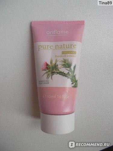 "Маска для лица Oriflame Pure Nature Purifying Clay Mask Organic Burdock Extract / ""Репейник"" фото"