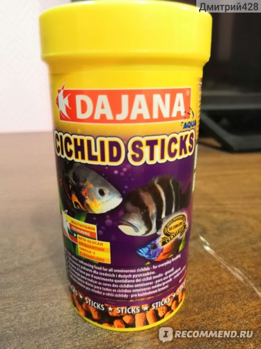 Корм для рыбок DAJANA Cichlid sticks  фото