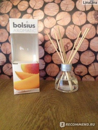 Ароматизатор для помещений Bolsius Aromatic Exotic mango Набор диффузор+палочки с ароматом манго фото