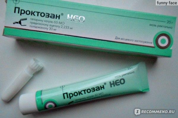 Средства д/лечения геморроя Hemofarm Проктозан НЕО мазь фото