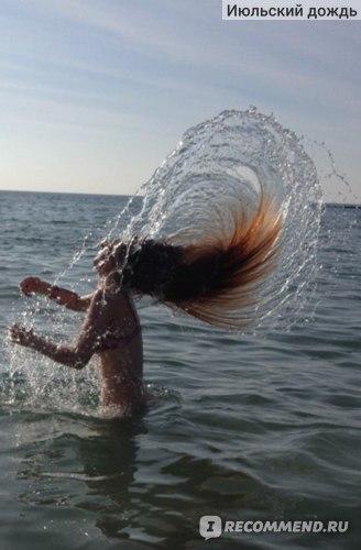 Случайный кадр, океан. Не страшно. Я как Годзила)))