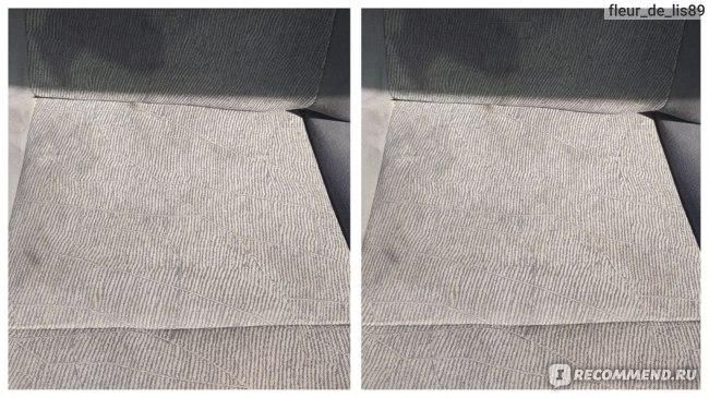 После использования очистителя ковровых покрытий салона с запахом лимона Runway
