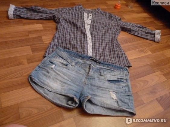 Шорты Concept Club джинсовые и рубашка фото