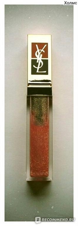Блеск для губ Yves Saint Laurent с золотыми блестками Golden Gloss Shimmering Lip Gloss фото
