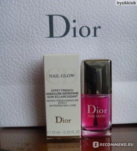 Dior Nail Glow - лак с эффектом французского маникюра.