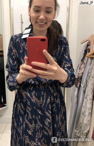 синее платье, стокманн