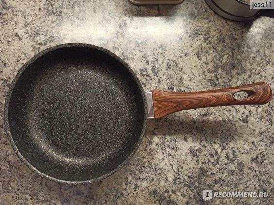 Сковорода Kukmara Granit ultra с мраморным антипригарным покрытием 22 см фото