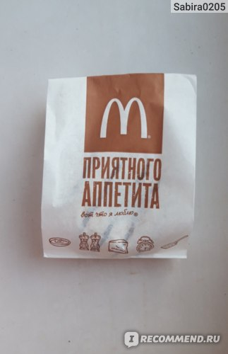 Фастфуд McDonald's / Макдоналдс Донат с ванильным кремом фото
