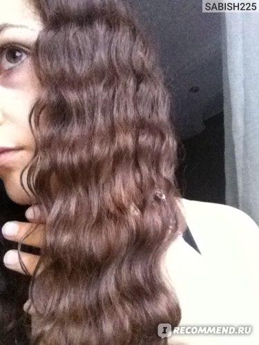 итог,результат на моих волосах