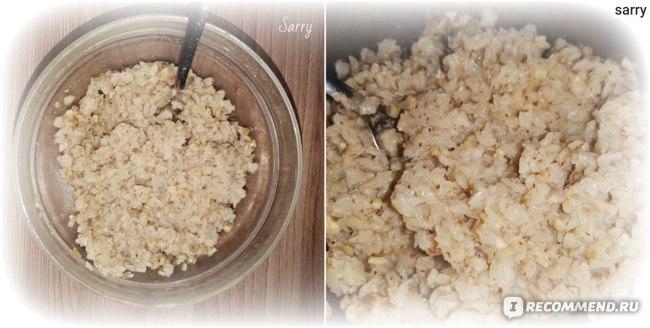 Каша гречневая быстрого приготовления Ясно солнышко с грибами и жареным луком фото
