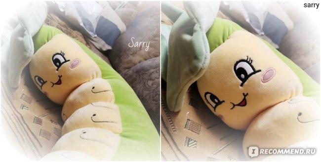 Мягкая игрушка Aliexpress Lotus Leaf Caterpillar Cute Plush Toy Stuffed Animals Plushies Toys Kawaii Soft Plushie Cotton Pillow Cushion for Children фото