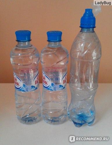Вода без газа на первый и последующий дни