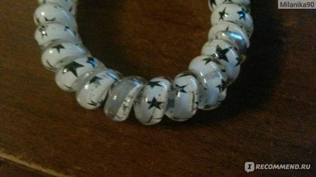 Резинка для волос Aliexpress 1pcs 5.5cm Hairband 2015 Hair Accessories Hair Band Elastic Ring Women Gum For headband Star/Beetle/Dot Style JF344 фото