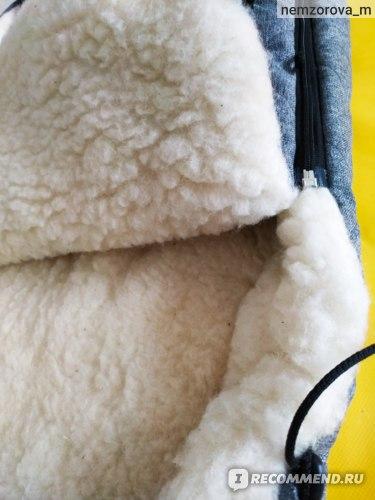 Конверт в коляску WOMAR Меховой  фото