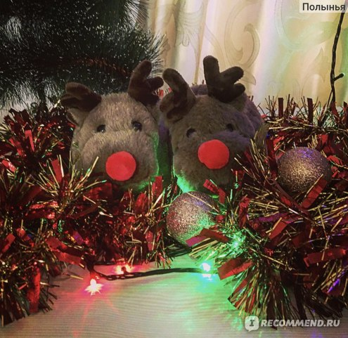 Тапочки Christmas Kids Reindeer Slippers