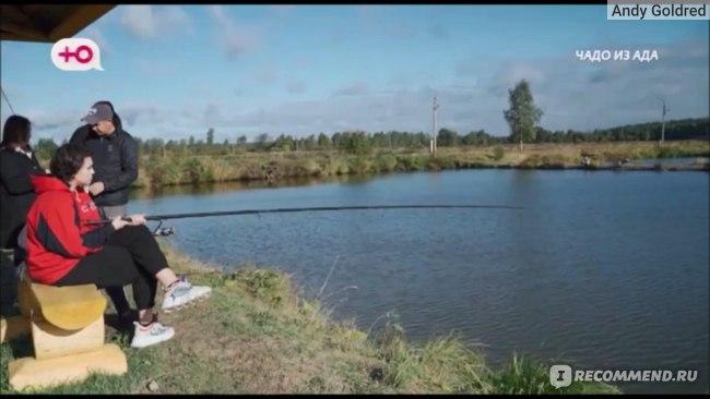 Настя на рыбалке