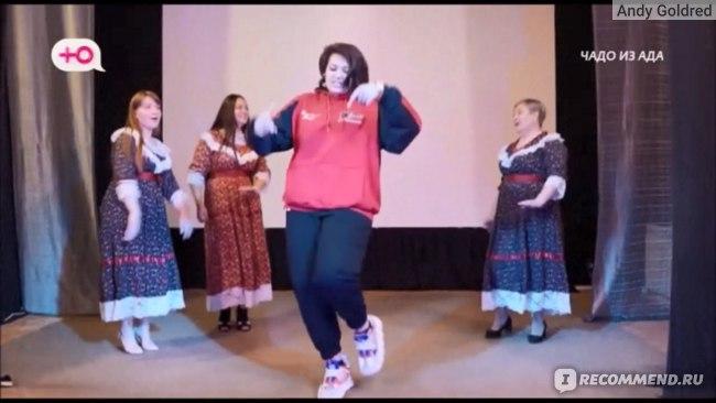 Настя выступает с народным коллективом