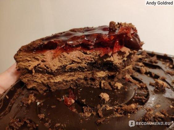 Шоколадно-вишнёвый торт Север Метрополь реальное фото