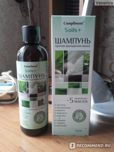 Шампунь Compliment Против выпадения волос 5 oils+ фото