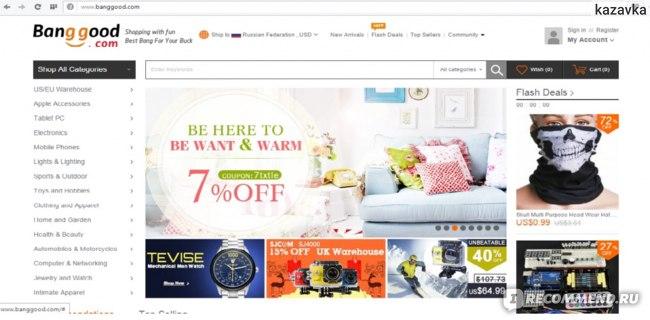 Интернет-магазин banggood.com фото