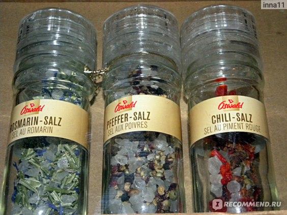 Trio di sale marino Sale al rosmarino, Sale al pepe e Sale al peperoncino