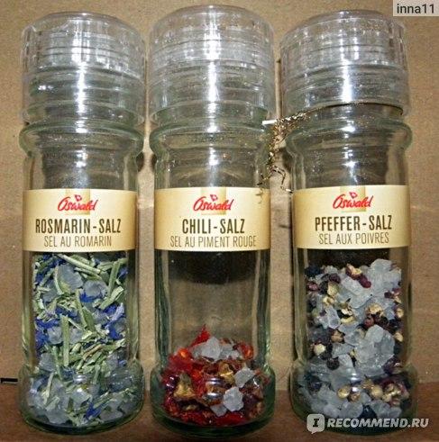 Meersalz-Trio Rosmarin-Meersalz, Pfeffer-Salz und Chili-Salz