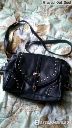 Сумка Aliexpress 2014 Women bags retro rivet punk style leather bag PU Leather Handbags Tote Messenger Shoulder Bag,Free shipping WLHB728 фото
