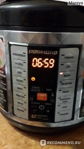 Redmond Мультикухня: выбрала режим и включила