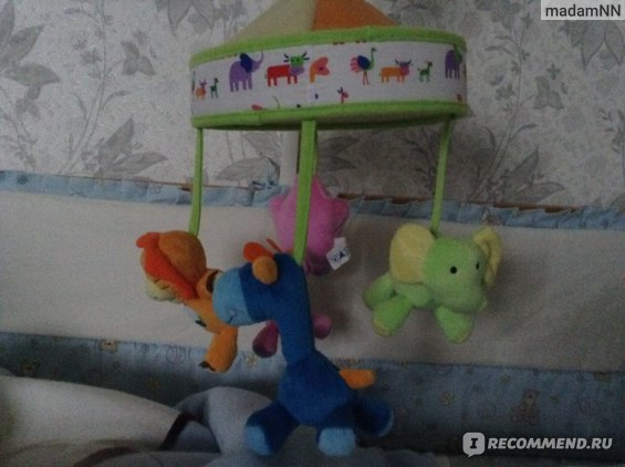 Музыкальный мобиль на кроватку Canpol Baby сафари фото
