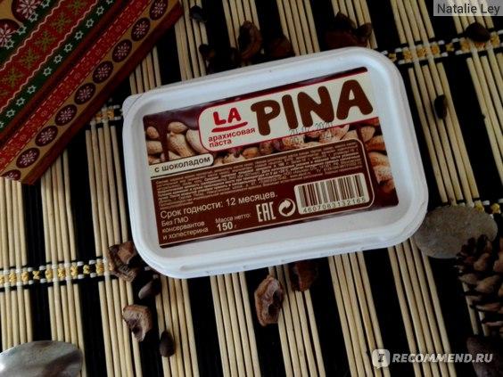 """Арахисовая паста ООО """"Альпойл СП"""" La Pina с шоколадом отзывы"""